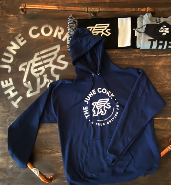 Navy blue unisex hoodie front view